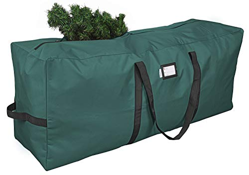 Primode Christmas Tree Storage Bag | Fits Up to 9 Ft. Tall Disassembled Tree | 25' Height X 20' Wide X 65' Long | Durable 600D Oxford Material | Heavy Duty Xmas Storage Container (Green)