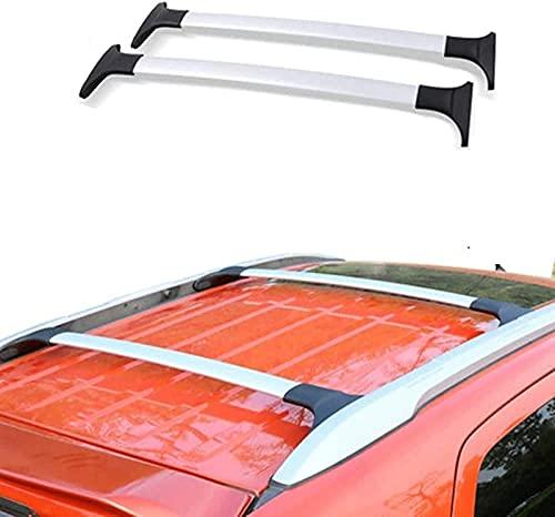 Coche Bacas Barra Transversal para Ford Ecosport 2013-2018 2019 2020, Barras portadoras de aluminio Portaequipajes Bastidores de bicicletas Accesorios de estilo de coche