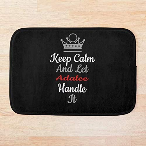 RQJOPE Alfombra de baño Felpudo Keep Calm Handle It Alfombras de Pasillo Alfombrilla de baño Antideslizante Alfombras de Exterior de...