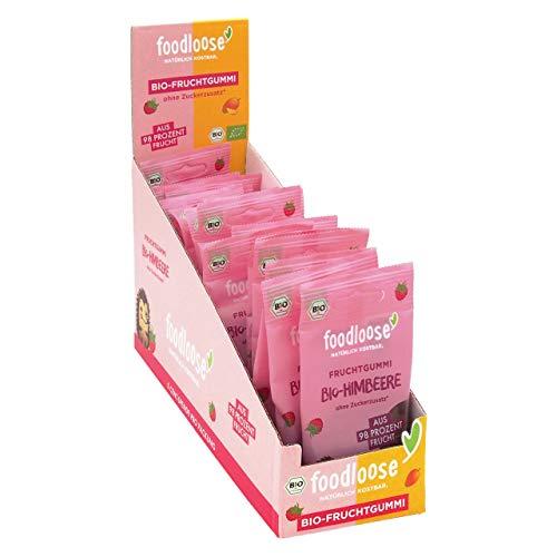 Bio-Fruchtgummi Himbeere von foodloose Vorteilspack (20 Tüten)