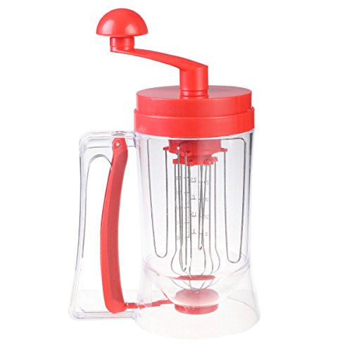 New Manual Pancake Batter Dispenser Perfect Cupcakes Waffles Mixer Mix Breakfast