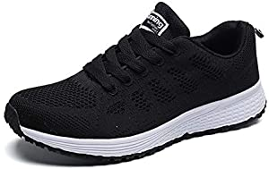 YUHUAWYH Womens Running Shoes Breathable Knit Walking Sneakers Casual Lightweight Tennis Shoes for Jogging Fitness Athletic 10 M US