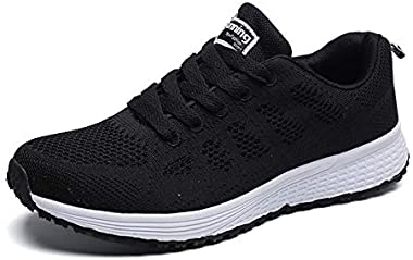 YUHUAWYH Womens Running Shoes Breathable Knit Walking Sneakers Casual Lightweight Tennis Shoes for Jogging Fitness Athletic 1