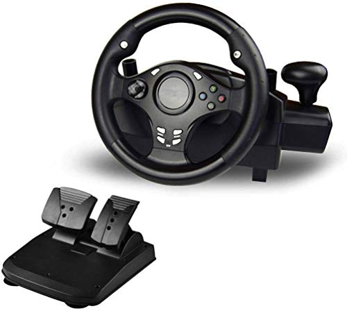Pc Computer Game Steering Wheel Racing Car Simulation Driver Reactive Pedal Racing Computer Game Steering Wheel Folding voetpedaal Dual Trilmotor