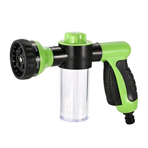 KKmoon Multifunctionele autowasmachine, sproeikop met schuimergenerator, opzetstuk voor tuinslangen, tuinirrigatie, hogedrukreiniger