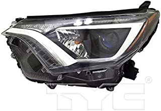 CarLights360: Fits 2016 2017 2018 Toyota RAV4 Headlight AssemblycAPA Driver Side (Left) CAPA Certified w/Bulbs - Replacement for TO2502247 (Vehicle Trim: LE ; XLE)