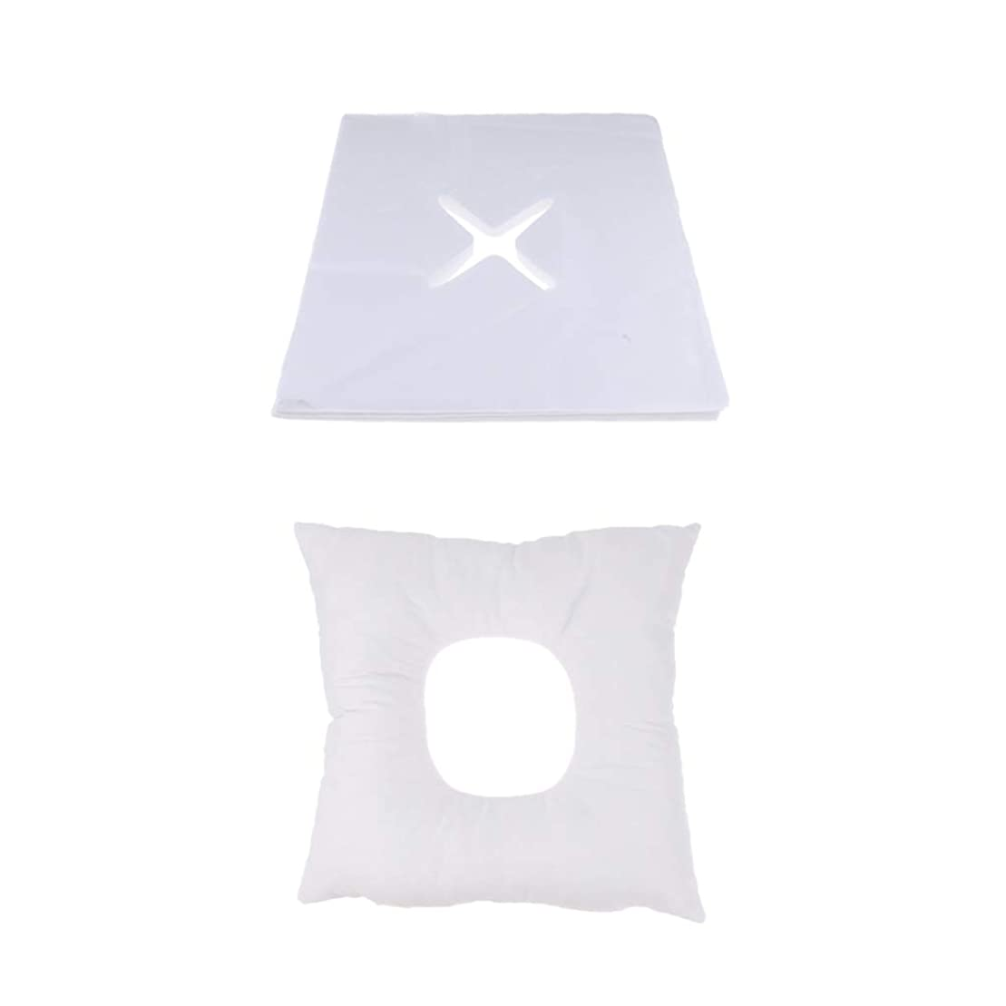 倍増数値除去D DOLITY マッサージ枕 顔枕 フェイスマット 200個使い捨てカバー付き 柔らかく快適