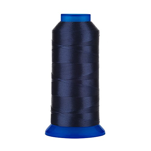 Selric [1500Yards / 30 Colors Available] UV Resistant High Strength Polyester Thread #69 T70 Size 210D/3 for Upholstery, Outdoor Market, Drapery, Beading, Purses, Leather (Navy Blue)
