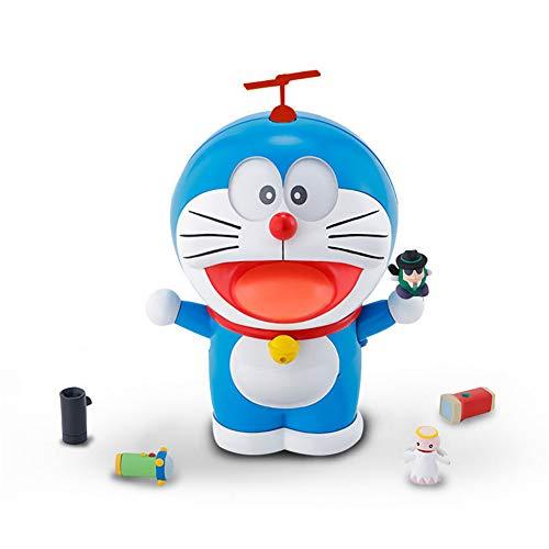 XJBQ Doraemon Doraemon Doraemon - Caja del tesoro de bolsillo para cambiar los accesorios de mano para tunear (5 expresiones divertidas y 4 accesorios)