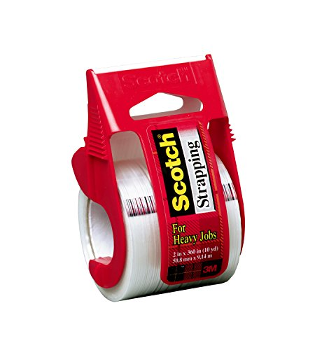Scotch Strapping Tape with Dispenser, 1.88 in. x 360 in., 6 Dispensers/Pack