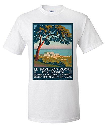 Le Pavillon Royal pre's Biarritz Vintage Poster (Artist: Duval) France (Premium T-Shirt)