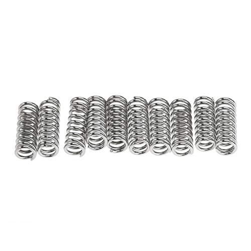 Xinqiankeji 10Pcs 7.5mm Springs Carbon Steel Stamping Bed Compression Printer Die Spring for 3D Extruder DIY Accouterment