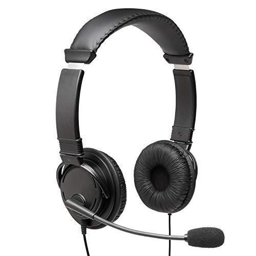 Kensington Hi-Fi Headphones with Microphone (K97603WW), Black, Universal