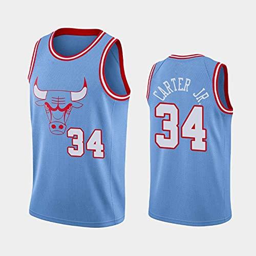 GLACX Jersey de Baloncesto para Hombre, NBA Chicago Bulls 34# Carter JR (4 Estilo) Jersey, Baloncesto Bordado Camisetas Sin Mangas sin Mangas Chaleco Deportivo al Aire Libre Tops,A,S
