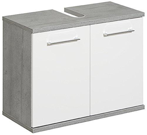 Pelipal 370 Fresh Line Grey Mobile sottolavello, Decorazione in Legno, Effetto Cemento, 33,0 x 70,0 x 53,0 cm