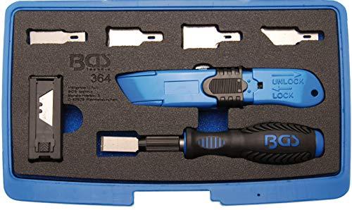 BGS 364 | Schaber- und Messer-Satz | 27-tlg. | Klebegewicht-Entferner | Schaber zur Entfernung von Klebeelementen