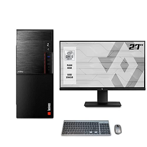 """Pc desktop completo intel i5 10400 4.30ghz,Ram 8Gb Ddr4,Ssd m.2 256gb,Lettore masterizzatore Dvd,Windows 10 Pro,Wi Fi,Hdmi,Monitor 27"""" FHD, accessori,Computer assemblato"""