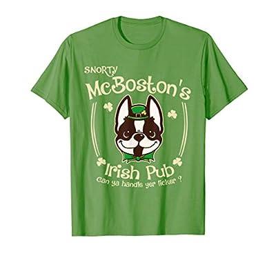 Funny Boston Terrier St.Patricks Gifts for Men Women Mom Kid T-Shirt