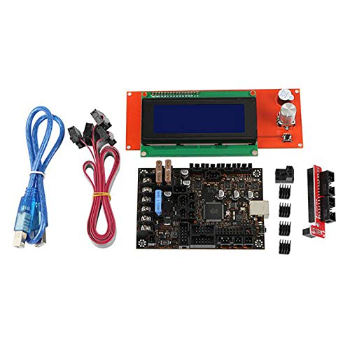 Monland 3D Printer Motherboard Kit for Prusa MK3 3S Einsy Rambo 1.1B with TMC2130 SPI + 2004 Lcd