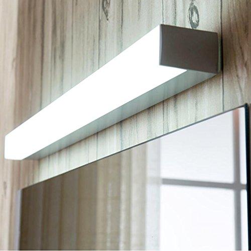 LED Luces Delanteras del Espejo Baño Ahorro de energía A Prueba de Agua Anti Niebla Lámpara de Pared Baño Maquillaje Espejo de luz XIN (Color : White Light 6000K, Tamaño : 120CM 22W)