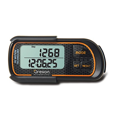 Oregon Scientific pe208 Electronic Black, Orange Pedometer – pedometers (LCD, CR1620, Black, Orange)