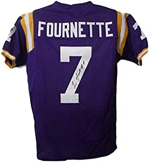 Leonard Fournette Autographed/Signed LSU Tigers XL Purple Jersey JSA