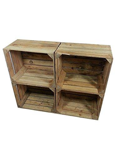 4 x masivas - cajas de madera usados - Cajas de vino - para muebles - Shabby