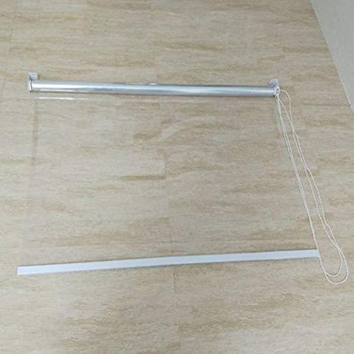 Tende a rullo Tenda A Rullo Impermeabile per Porte E Finestre per Interni, Tenda Avvolgibile Trasparente in PVC di Plastica 80/90/100/120/140 cm (Size : 100×240cm)