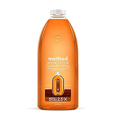 Method Hardwood Floor Cleaner, Squirt + Mop Refill, Use as Laminate or Sealed Wood Floor Cleaner, Almond Scent, 2 Liter Bottle, 1 Pack, Packaging May Vary