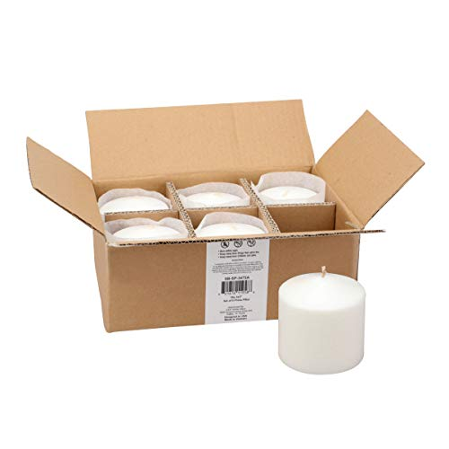 Stonebriar - SB-SP-3475A 18 Hour Long Burning Unscented Pillar Candles, 3x3, White