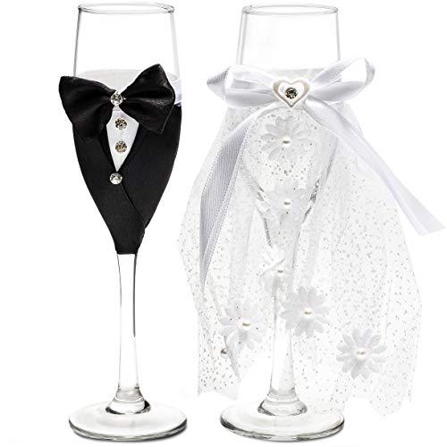 Trouwjurk Champagne fluiten (Set van 2) - Clear