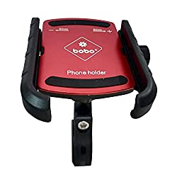 BOBO Jaw-Grip Aluminium Waterproof Bike/Motorcycle/Scooter Mobile Phone Holder Mount, Ideal for Maps and GPS Navigation (Red),BOBO,BB-BM-004