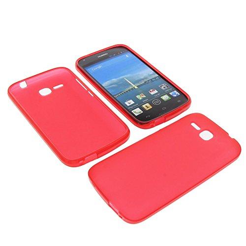 foto-kontor Tasche für Huawei Ascend Y600 Gummi TPU Schutz Hülle Handytasche rot