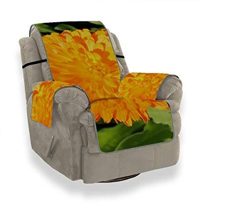 JEOLVP Beautifui Bright Marigold Flower Stuhl Schonbezug Lehnsessel Schonbezüge Ohrensessel Lodge Sofabezug Möbelbeschützer Für Haustiere, Kinder, Katzen, Sofa