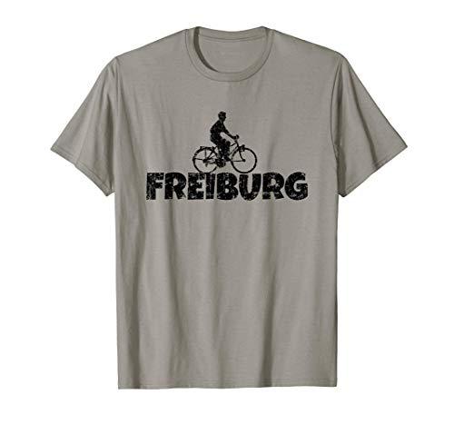 Herren Freiburg Fahrrad (Vintage Schwarz) Fahrradfahrer T-Shirt