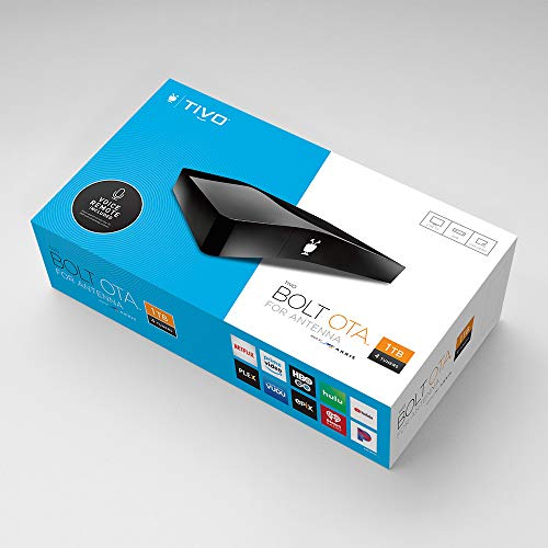 TiVo Bolt OTA for Antenna – All-in-One Live TV, DVR and Streaming Apps Device
