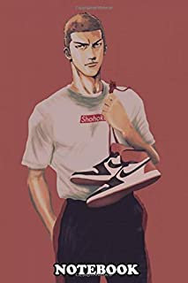"""Notebook: Hanamichi Sakuragi Is The Main Protagonist Of Slam Dunk , Journal for Writing, College Ruled Size 6"""" x 9"""", 110 Pages"""