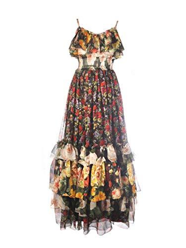 DOLCE E GABBANA Luxury Fashion Damen F6C4DTGDK87S9311 Multicolour Seide Kleid   Jahreszeit Outlet