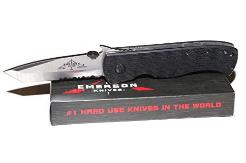 Emerson Knives - Tanto Satin Finish Serrated - CQC7-BW-SFS