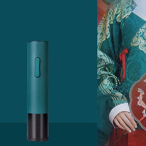 LYX Bottiglia elettrico Apribottiglie Opener ricaricabile senza cordone automatico apribottiglie apribottiglie vino Foil Cutter alluminio (Color : Verde)