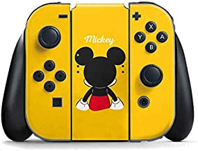 Skinit Decal Gaming Skin for Nintendo Switch Joy Con Controller - Officially Licensed Disney Mickey Mouse Backwards Design