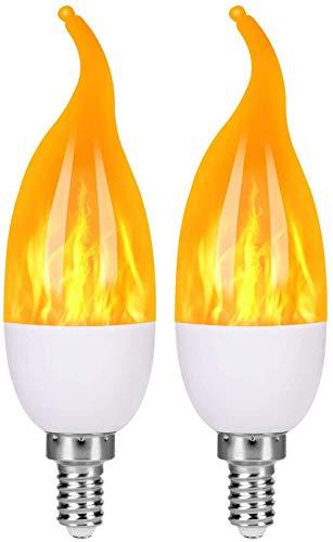 StillCool - Lote de 4 bombillas LED E14 con efecto llama con 4 modos de iluminación, bombillas decorativas para interior y exterior, para Halloween, Navidad, fiesta de boda de jardín, casa