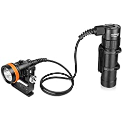 Light Head, Canister, Cable, Rechargeable Battery Pack, Charger, Goodman Handle, Spare O-Rings OrcaTorch D630 4000 Lumens Canister Light: Perfect Canister Dive Light for Cave, Wreck or Similar Technical Diving Activities Light Delivers Up to 4,000 Lu...