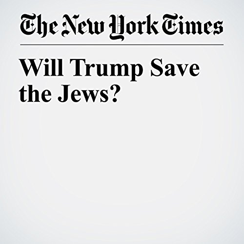 Will Trump Save the Jews? copertina