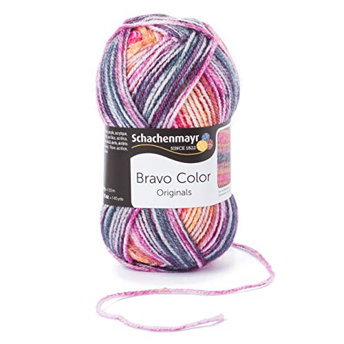 Schachenmayr Bravo Color 9801421-02124 lollipop color Handstrickgarn, Häkelgarn