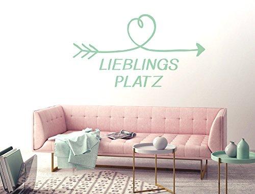 Wandtattoo Lieblingsplatz Schlafzimmerdeko Wanddekoration lustig