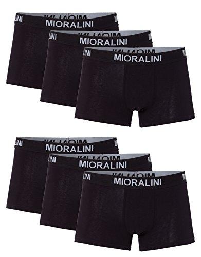 MioRalini 6 Herren Elastan -Baumwoll Boxershort, Modell: 6 STK Set 02SW, Größe: L-6