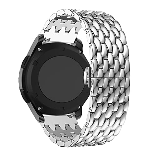 Cinturino Per Samsung Gear S3 Frontier/Classic smart Watchstrap In Acciaio Inox 22 MM cinturino per Galaxy Watch 46mm Sostituzione Cinturino, 22 mm per cambio S3, Argento