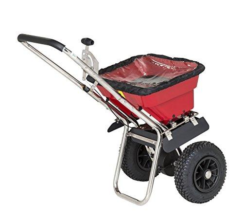 PROFI STREUWAGEN 34 Liter (37 kg), 3 m Streuweite, für Rasen, Dünger, Salz und mehr - Zentrifugalstreuer Salzstreuwagen Rasenstreuwagen Handstreuwagen Streugutwagen