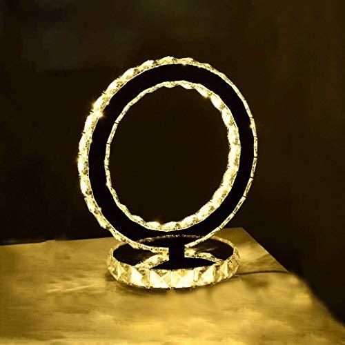 DJSMtd Crystal LED Tabla Lámpara Ajustable de Moda lámpara de cabecera Creativo, Sala Restaurante decoración del Dormitorio de luz de lámpara de Escritorio